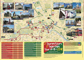 Carte de bus touristique et hop on hop off bus tour de City SightSeeing